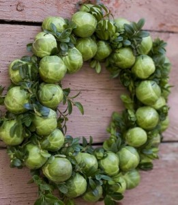 Brussels sprouts wreath