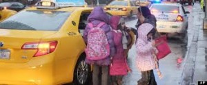 Children Entering Cab