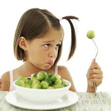 Girl with Brussels sprouts