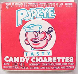 Popeye Candy Cigarettes Poster