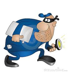 Cartoon of Burglar