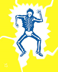 Skeleton in Electric Shock