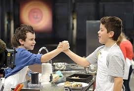 Boys Shaking Hands on Master Chef Jr.